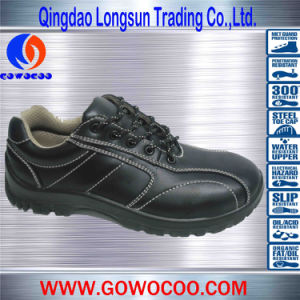 Newest Design Comfortable Box Leather Safety Footwear (GWPU-1035)
