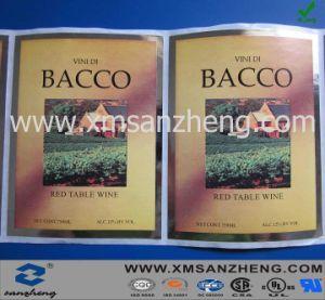 Aluminum Foil Paper Wine Sticker (SZXY187) pictures & photos