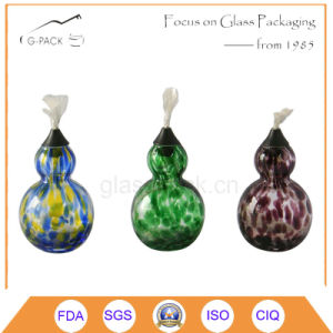 Calabash Shape Glass Oil Lamp with Wicks pictures & photos