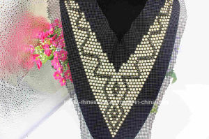 Black and Clear Crystal Rhinestone Garment Beaded Jewelry for Collar (TA-015) pictures & photos