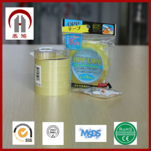 High Quality Adhesion Transparent BOPP Super Clear Tape pictures & photos