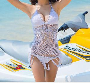 Unti-UV Knit Big Boob Sexy Open Summer Pool Swimwear pictures & photos