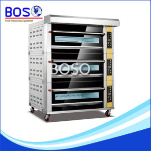Double Deck 4 Trays Baking Bread Gas Oven for Sale