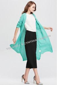 Fashion Women′s Long Cardigan Leisure Colorful Knitwear