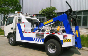 6 Wheels Towing Conjoined Road Wrecker Truck for Sale pictures & photos