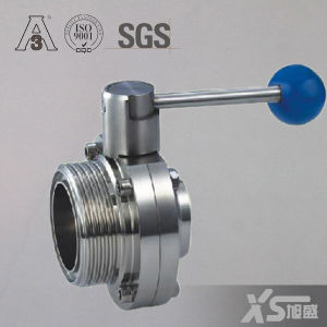 Food Grade Sanitary Ss304 Male Weld Butterfly Valve pictures & photos