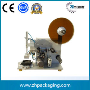 Semi-Auto Flat Cap Lid Labeling Machine (ZHXT-0110) pictures & photos
