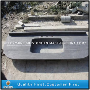 Honed Grey Blue Black Limestone for Kitchen Counter Top pictures & photos