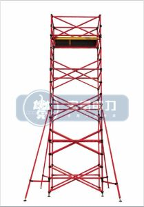 Red Fiberglass Single-Wide Scaffolding pictures & photos
