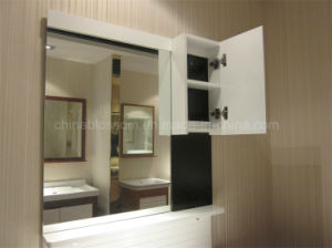 White and Black Wall-Mounted Bathroom Cabinet (BLS-17336) pictures & photos