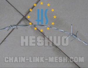 500 Meters 1.8mm Barbed Wire with Galvanized or PVC Coated pictures & photos