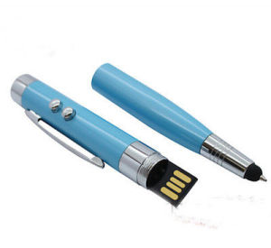 Real LED Laser Light Ballpoint Touch Pen Model USB 2.0 Memory Stick Pen Drive pictures & photos
