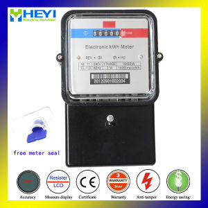 Glass Cover Bakelite Base Electrical Energy Meter 60Hz 1.0 for Southeast Aisan Country Outdoor Type Free Plastic Seal pictures & photos