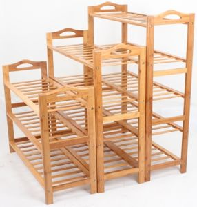 Bamboo Shelf Display Rack for Household (QW-xq) pictures & photos