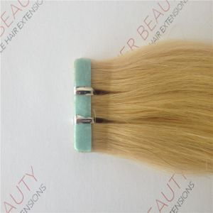 100% Classy Remy Indian Human Tape in Hair Extensions Double-Sided pictures & photos
