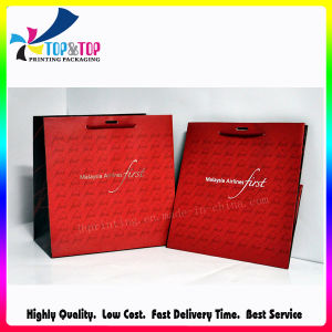 Customize Full Red Printing Shopping Bag (especially for Christmas day) pictures & photos