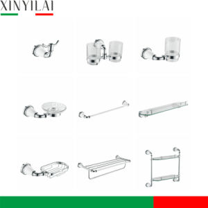 Chrome and paint Bathroom Accessories Set with Towel Shelf 9PCS pictures & photos