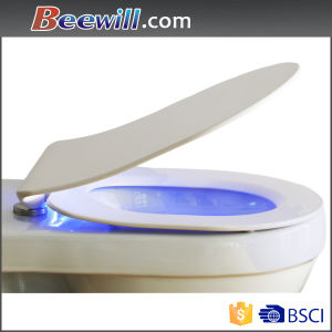 Polished LED Elongated Single Color Toilet Seat with Slow Down pictures & photos