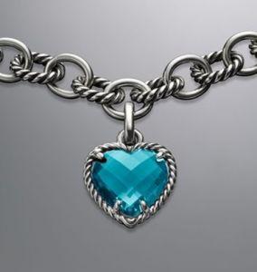 Sterling Silver CZ Heart Pendant (SSP-005)