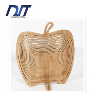 Foldable Weaving Portable Picnic Bamboo Fruit Basket pictures & photos