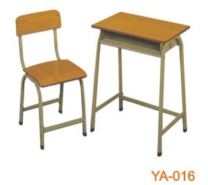 Fixed Height Single Student Desk and Chair for School (YA-016) pictures & photos