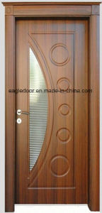Economical Interior Wooden Rounded MDF PVC Door (EI-P083) pictures & photos