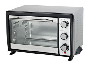 Stainless Steel Electric Toaster Oven with Rotisserie and Convection Function