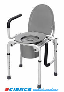 Drop-Arm Commode Chair Without Wheels (iron) pictures & photos
