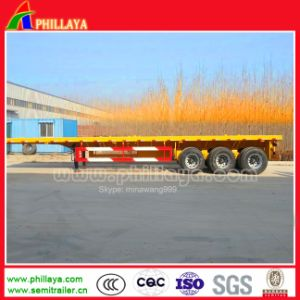 40ton-60ton 3 Axle 40FT Chassis Container Flatbed Truck Semi Trailer pictures & photos