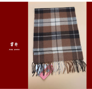 100% Yak Wool Scarf / Men′s Yak Wool Scarf / Plaid Yak Cashmere Wool Scarf pictures & photos