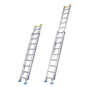 (375LBS) Aluminum Alloy Single-Side Grooved Rails Extension Ladder pictures & photos