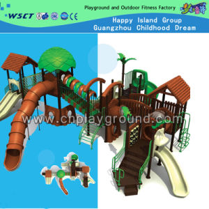 Outdoor Jungle Style Green Tree House Kids Playground (A-04501) pictures & photos