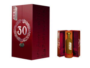 High Quality Foldable Paper Wine Box with Handle-Yw425