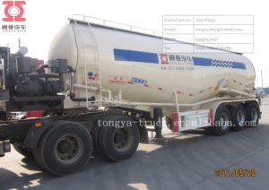 Cement Powder Material Tanker Semi Truck Trailers with Air Compressor pictures & photos