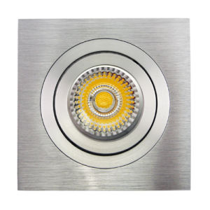 Lathe Aluminum GU10 MR16 Sauqre Tilt Recessed LED Down Light (LT2301) pictures & photos