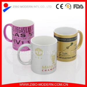 Stoneware Spraying Ceramic Mug with Coating and Print Decal pictures & photos