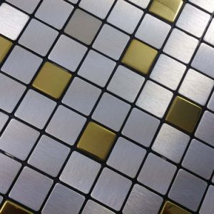 Aluminum Plate Mosaic Background Wall Puzzle Glass Tile Adhesive Ceramic Tile Stickers Bathroom Floor Mosaic Tiles pictures & photos