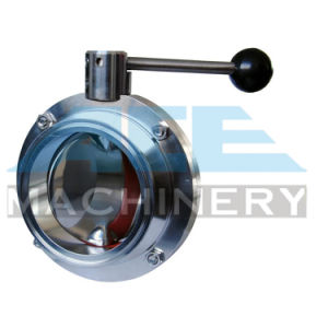 Stainless Steel Manual Welded Sanitary Butterfly Valve (ACE-DF-C1) pictures & photos