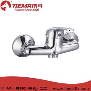 New Design Brass Body Chrome Bathroom Show Mixer (ZS62402) pictures & photos