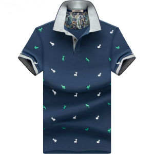 Custom Short Sleeve Mens Printed Polo T-Shirt (KP-001) pictures & photos