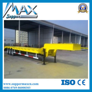 Hydraulic Detachable Gooseneck Low Bed Semi Trailer pictures & photos