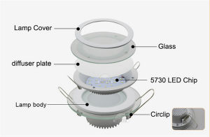 LED Round Panel Light 6W with Glass Circle pictures & photos