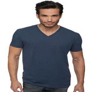 Combed Cotton Mens Short Sleeve V Neck T-Shirt pictures & photos