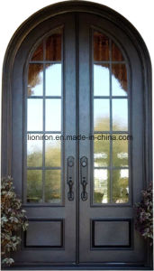 Full Round Top Security Iron Entry Doors for House pictures & photos