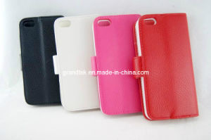 Hot Selling Lichee Pattern Flip Wallet Leather Case for iPhone5 Accessories (Rain-20130912-02) pictures & photos