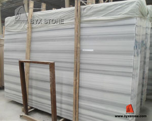 Equatar Marmara / Straight Vein White Marble Slab pictures & photos