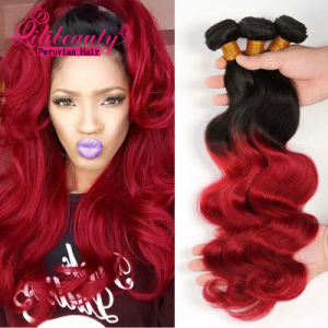 100% Peruvian Human Hair Ombre Hair pictures & photos