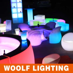 Woolf China Canton Fair LED Table LED Chairs LED Bar Stool LED Lit Bar Counter Furniture pictures & photos