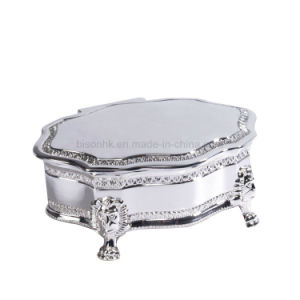 Clear Brithday Gift Jewelry Box, Sliver Metal Jewelry Box for Wedding Gift pictures & photos