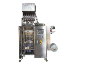 Multilanes 4 Sides Sealing Long Pouch Yogurt Packing Machine pictures & photos
